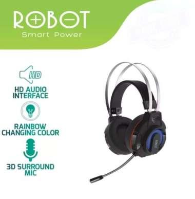 harga PROMO HEADPHONE GAMING HP ROBOT RH-G20 WIRED HEADSET BLACK WITH 7 WARNA Blibli.com
