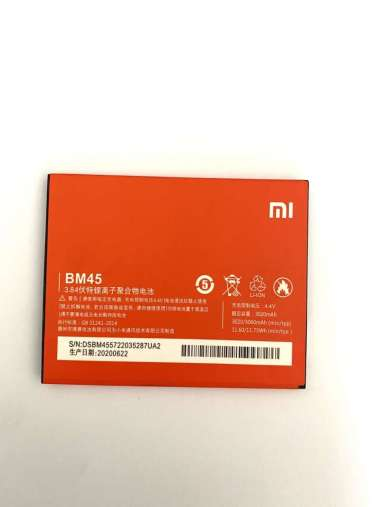 harga [ 3060 MAH ] Redmi Note 2 - BM45 Original Baterai Batre Battery Batery batrai Batere Batrei Hp Handphone Hape Blibli.com