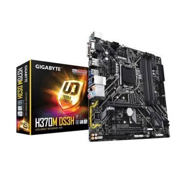Gigabyte H370M DS3H Motherboard [So ... layPort/ HDMI/ Micro ATX]