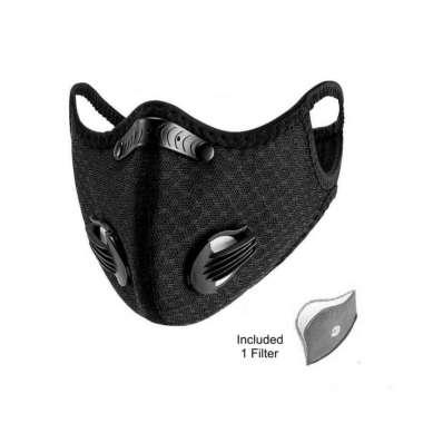 harga Rockbros LF2014 Face Mask + Filter PM2.5 - Masker Sport Sepeda Lari Hitam Blibli.com