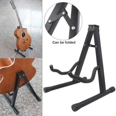 harga Stand Penyangga gitar Berdiri bass biola Tripod Foldable Guitar Holder - Tipe B Blibli.com