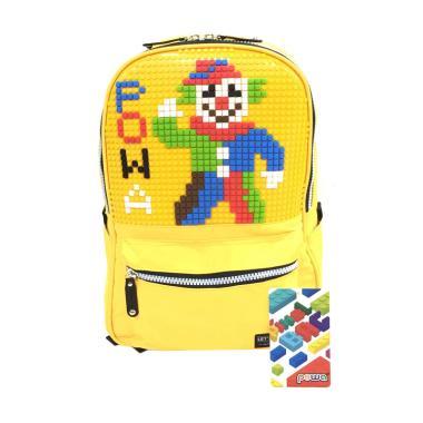 Powa 666 Lego Pixel Bag Tas Ransel Anak - Yellow Mango