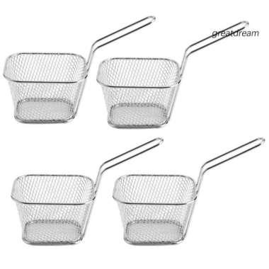 harga ❁GCF❁4Pcs Fren Fries Deep Frying Basket Metal Food Filter Blibli.com