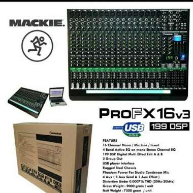 harga MIXER AUDIO MACKIE PRO FX16v3-PRO FX16 16CH EFFECT REVERB 199 DSP NEW MULTICOLOUR Blibli.com