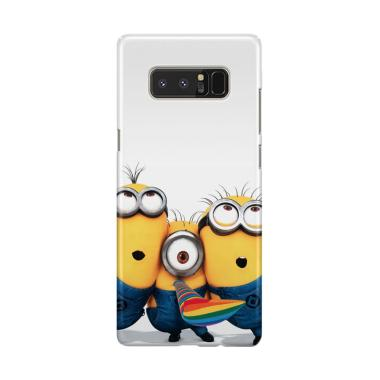 Indocustomcase Minion Trio Cover Hardcase Casing for Samsung Galaxy Note 8