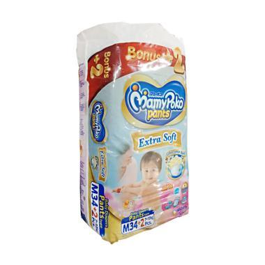 harga MamyPoko Pants Extra Soft Girl Popok Bayi [Size M/34+2 pcs] Blibli.com