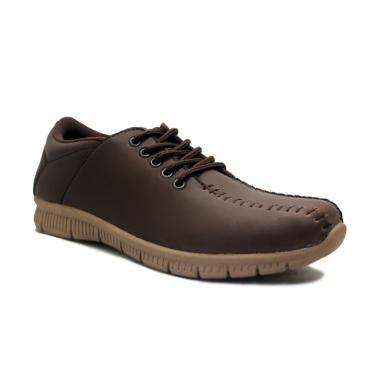 D-Island Shoes Max Trainers Rajut Comfort Sepatu Kasual Pria - Brown