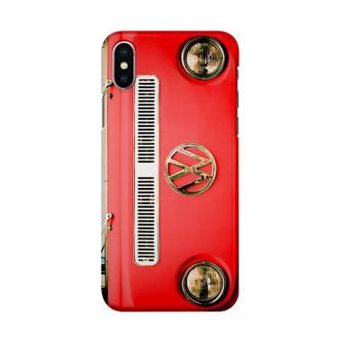 harga Indocustomcase Red VW Combi Cover Hardcase Casing for iPhone X Blibli.com