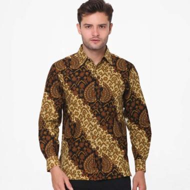 Anakara Batik Men Long Sleeve Razade Batik Pria - Brown