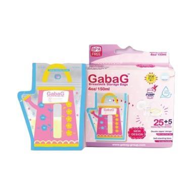 Gabag New Design Teko Pink Breastmilk Storage Bags [150 mL/ 25 + 5 pcs]