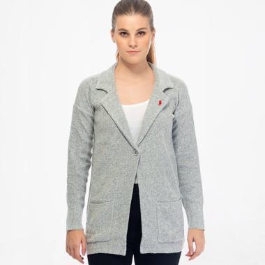 POLO RALPH LAUREN PY580000 Coat Knitting Peach Rose Outerwear Wanita