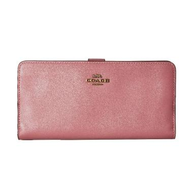 Coach Smooth Leather Skinny Wallet Dompet Wanita - Rose