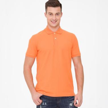 Bossini With Logo Bordir Kaos Polo Pria - Orange [010001240 COL 15]
