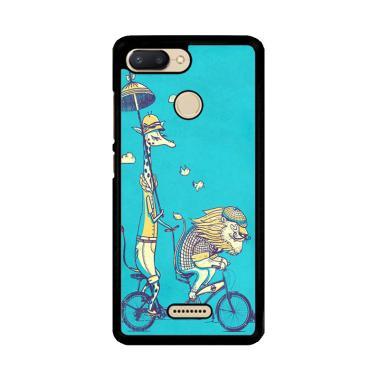 harga Flazzstore Funny Giraffe Lion Safari Bicycle V1484 Premium Casing for Xiaomi Redmi 6 Blibli.com