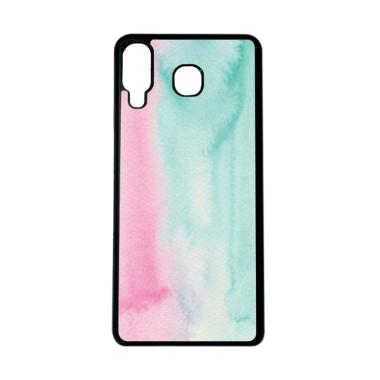 CARSTENEZIO Motif Warna Pastel 35 Softcase Casing for Samsung Galaxy A8 STAR - Hitam