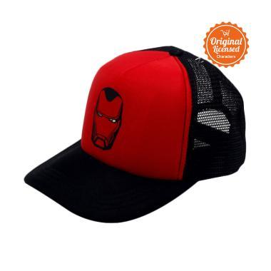 Marvel Iron Man Topi Trucker Pria - Black Red. Rp 200 87d977e304