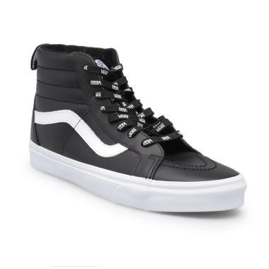 Vans UA Reissue Leather Sepatu Pria - Black  SK8-Hi  c9260752e4