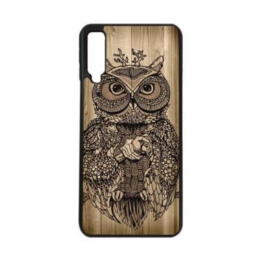 harga HEAVENCASE Motif Burung Kayu Owl Wood Softcase Casing for Samsung A7 2018 - Hitam Blibli.com