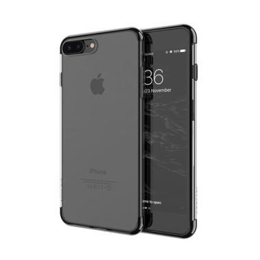 OEM Neon Transparant Half Plating Colour Softcase Casing for iPhone 7 Plus  - Hitam 59942f3cf8