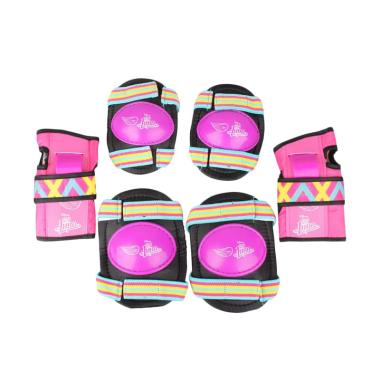 harga Disney Elbow Wrist Knee Guard Protector Set for Kids Riding/ Skating/ Scooter - Purple Blibli.com