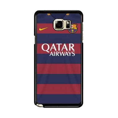 d175cf10c26 Flazzstore Barcelona Jersey Custom Hardcase Casing for Samsung Galaxy Note 5