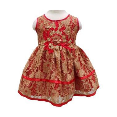 cheap for discount 2f230 317a3 Chloebaby Shop F1119 Brukat Baju Imlek Bayi - Gold