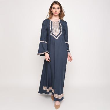 Batik Huza Karita Long Dress Wanita
