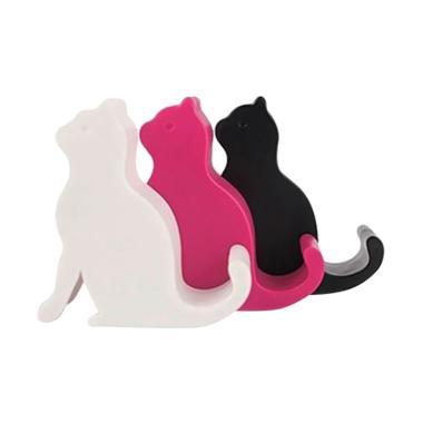 harga FS - Bluelans Cute Mini Cat Shape Phone Tablet Mounts Stand Holder Tool for iPhone iPad [Random Color] Blibli.com