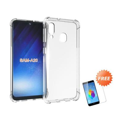 OEM Ultra Thin Softcase Casing for Samsung Galaxy A20 6.4 inch - Clear + Gratis Tempered Glass