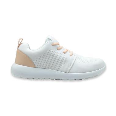 Brodo X Cotton Ink Sepatu Sneaker Anak Perempuan - White Peach
