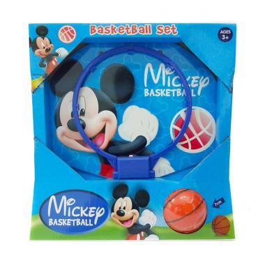 nouveaux styles 9233b 60682 Mickey Mouse NB-03633 Basketball Set Mainan Bola Basket - Biru