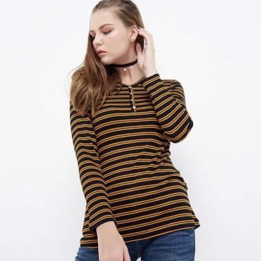 Dust BC010 Gaharu Atasan Kaos Wanita - Yellow Black