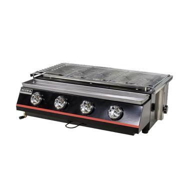 harga Modena BB 1046 G Alat Pemanggang [4 Burner BBQ/ GAS] Black mix silver Blibli.com