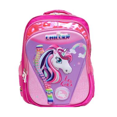 89e174c0eb7b Powa 2340 Unicorn Tas Ransel Sekolah Anak - Pink
