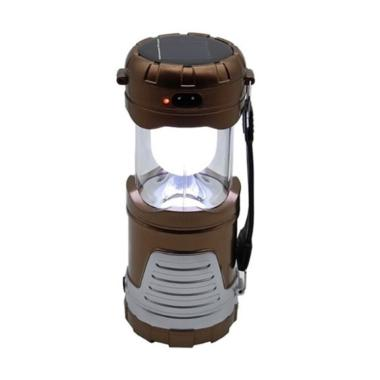 harga KiozOrenz Lentera Tarik Senter Emergency + Solar Cell + Powerbank Solarcell Lampu Camping Mini - Brown Blibli.com