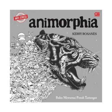 Gramedia Pustaka Utama Art Therapy Animorphia Buku Mewarnai
