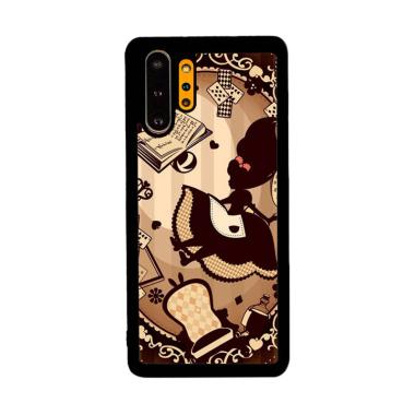 Cannon Case Alice In Wonderland Brown L2864 Custom Hardcase Casing for Samsung Galaxy Note 10 Plus
