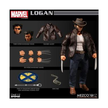 New In Hand Mezco Toyz One 12 Collective Marvel Legends Wolverine Logan Figure