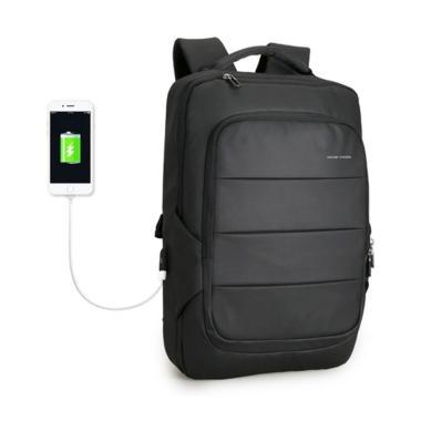 Mark Ryden Backpack Bag USB Tas Ransel Pria [MR9082] BLACK