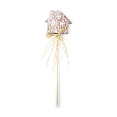 harga Bluelans #2 Wooden Star Snowflake Cake Topper with Straw Christmas Tree Party Decor Blibli.com