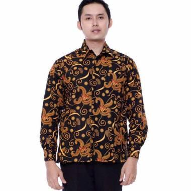 harga kemeja batik pria motif salju-batik KM Blibli.com