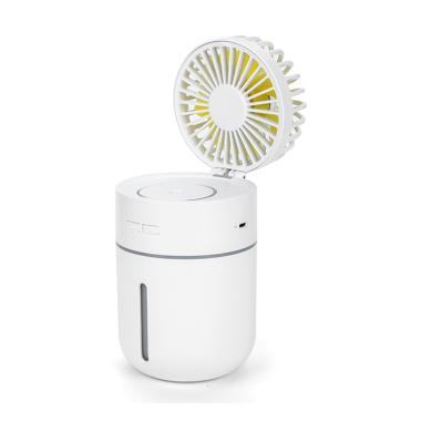 H-IKEA Mini Portable Fan With Personalized Cooling Humidifier Water Spray Fan Quiet USB Or Rechargeable Battery Powered WHITE