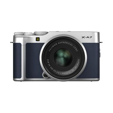 Fujifilm X-A7 Kit XC 15-45mm Kamera Mirrorless free SD 32gb + Instax Mini 9 - Navy Blue