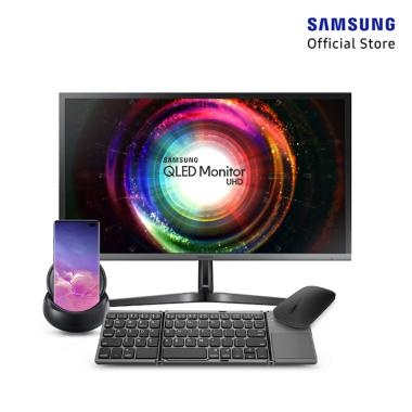 harga Samsung Paket Monitor LU32H850UMEXXD 32-Inch + HP Galaxy S10+ Prism Black [128 GB/ 8 GB] + Dex Station + Keyboard 3 Times + Designer Bluetooth Mouse Blibli.com