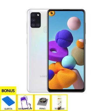 harga Samsung Galaxy A21s Smartphone [6 GB / 64 GB] + Free Gurita + iRing + WaterProof + Tongsis White Blibli.com