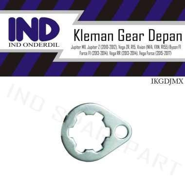 harga IND Onderdil Kleman-Klem Gear-Gir Depan Jupiter-MX Old-New-Z New Robot-Salib-R15 SILVER Blibli.com