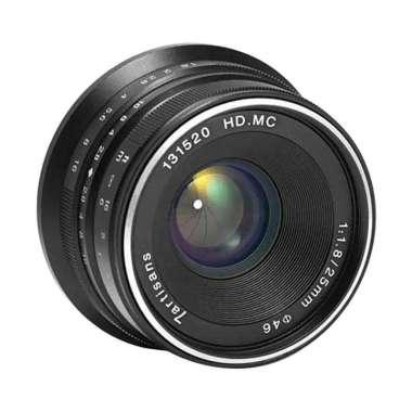 harga 7Artisans 25mm F1.8 Micro 4/3 Lensa Kamera for MFT #01 BLACK Blibli.com