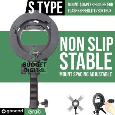 harga OEM - S-Type Bracket Bowens Mount for Flash Speedlite Softbox Hot Shoe Mount Blibli.com