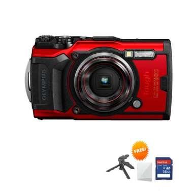 harga Tokocamzone Olympus Tough TG-6 Kamera Pocket Free ScreenGuard + Tripod Mini + Memori 16GB hitam Blibli.com