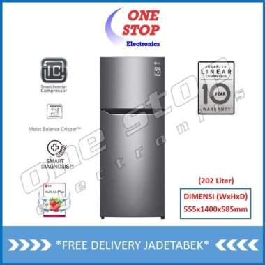 harga [GARANSI RESMI] LG GN-B195SQMT Kulkas 2 Pintu Inverter Compressor With Multi Air Flow 187 Liter Unit Only Dark Graphite Steel Jakarta Blibli.com